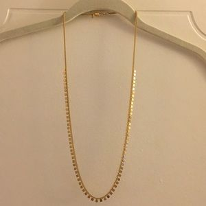Madewell gold circle square necklace